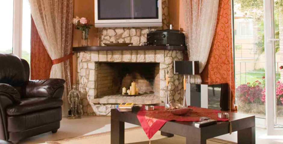 Show villa exclusive fire place