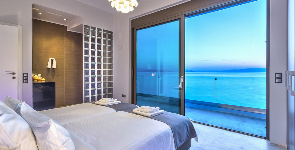 Show luxury villa crete seafront bedroom 21