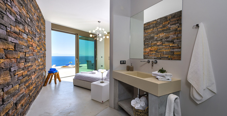 Show luxury villa crete seafront bedroom 31