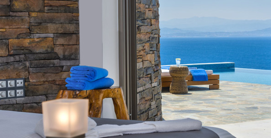 Show luxury villa crete seafront bedroom 33