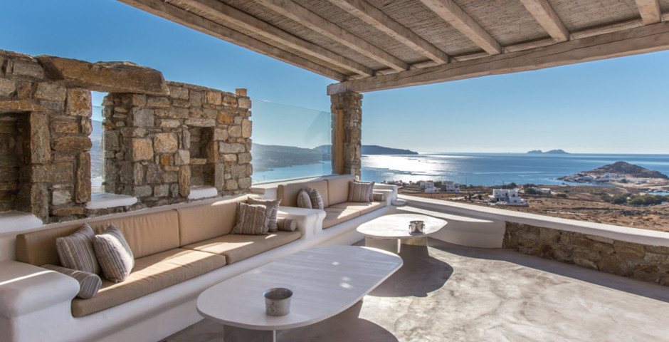 Show sheltered pergola rest corners with sea view