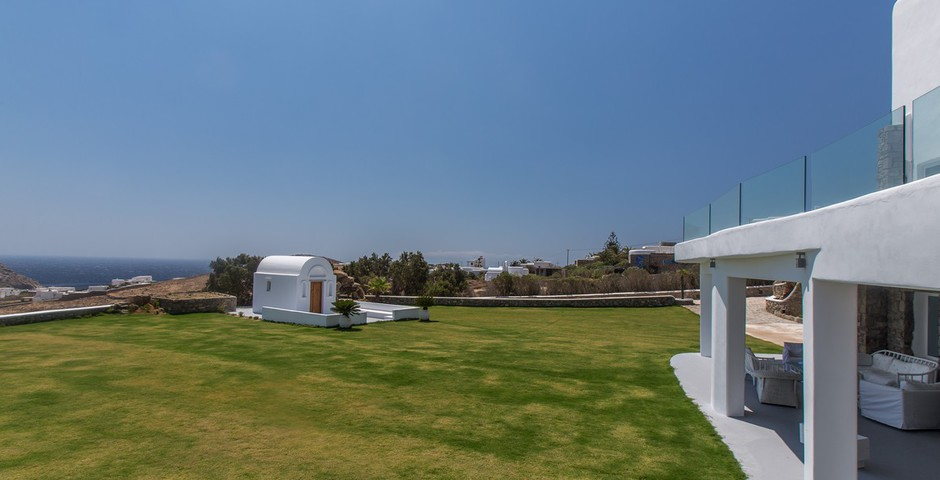 Show garden event area with sea view