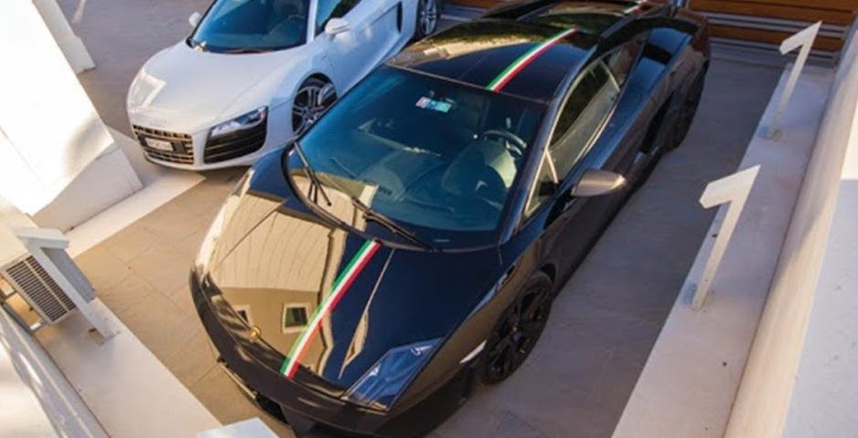 Show luxury villa trogir croatia parking area