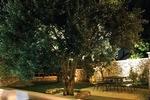 Thumb luxury villa trogir croatia outside dining area by night