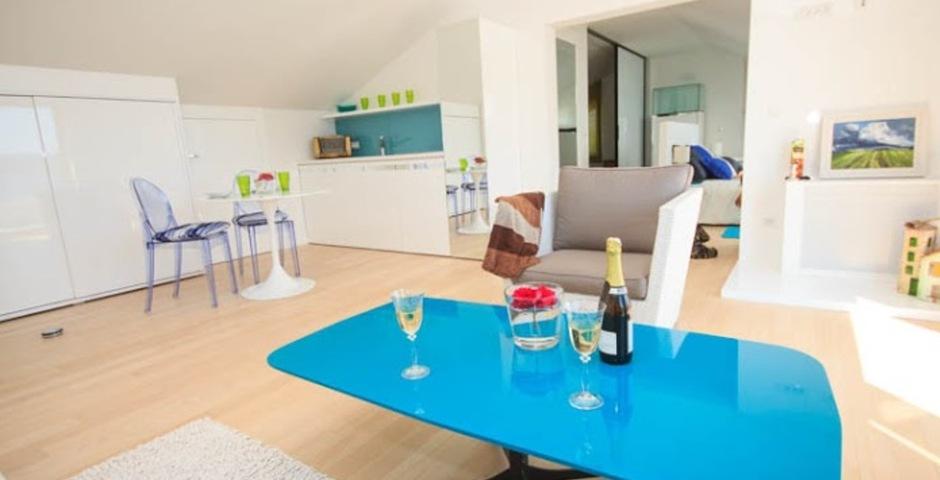Show luxury villa trogir croatia attic living area