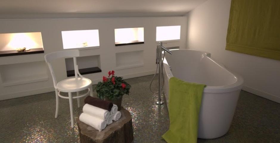 Show luxury villa trogir croatia attic stand alone bathtub