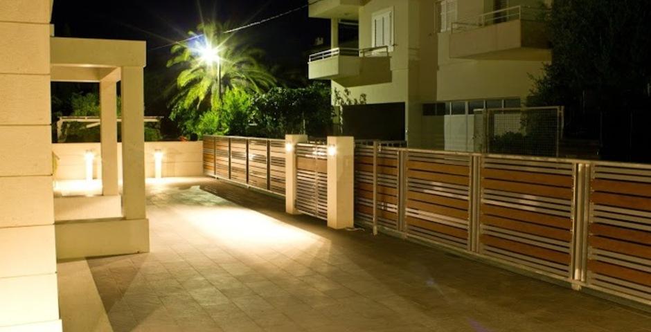 Show luxury villa trogir croatia outside parking