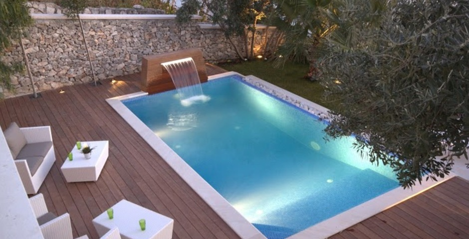 Show luxury villa trogir croatia swimmingpool area lounge seaview