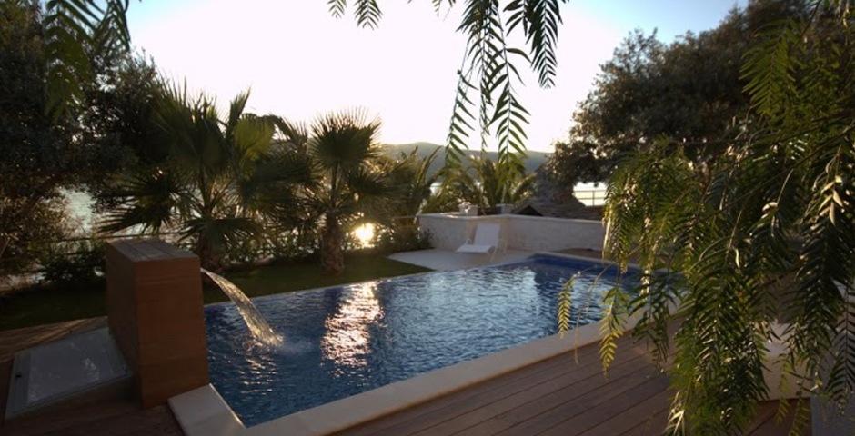 Show luxury villa trogir croatia outside terrace swimmingpool area