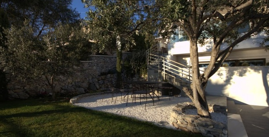 Show luxury villa trogir croatia outside dining place