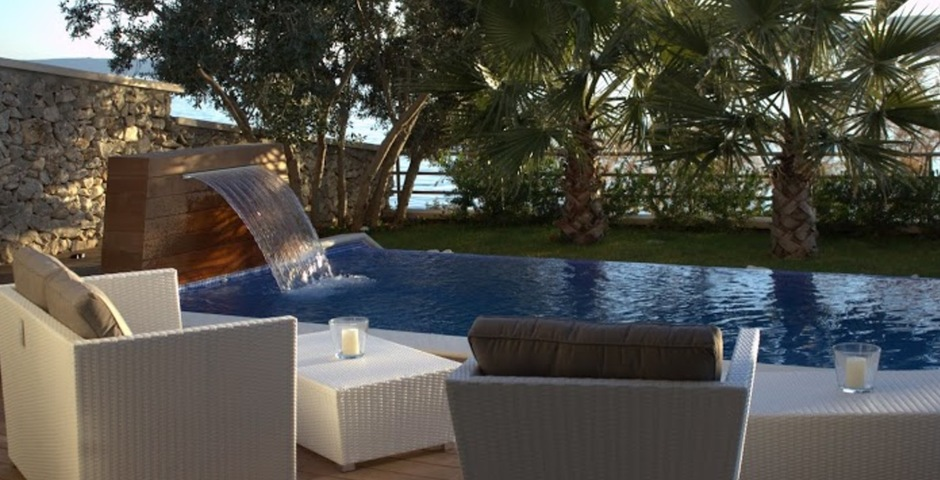 Show luxury villa trogir croatia outside living lounge swimmingpool