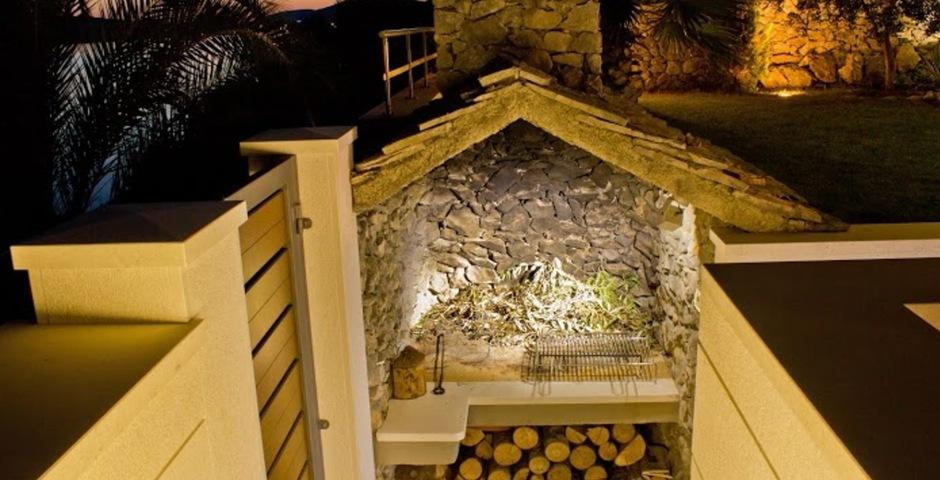 Show luxury villa trogir croatia outside