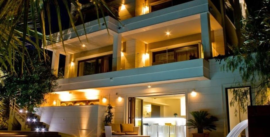 Show luxury villa trogir croatia villa by night front