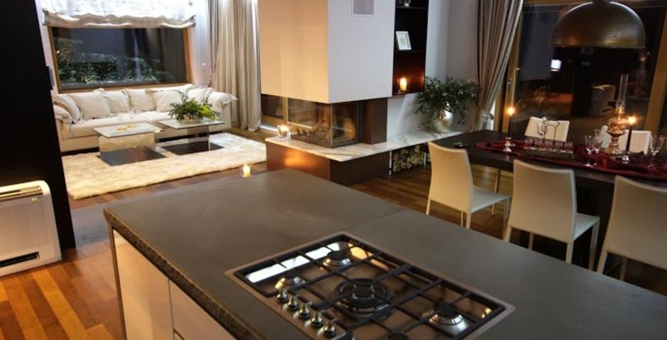 Show luxury villa trogir croatia kitchen livingroom diningroom