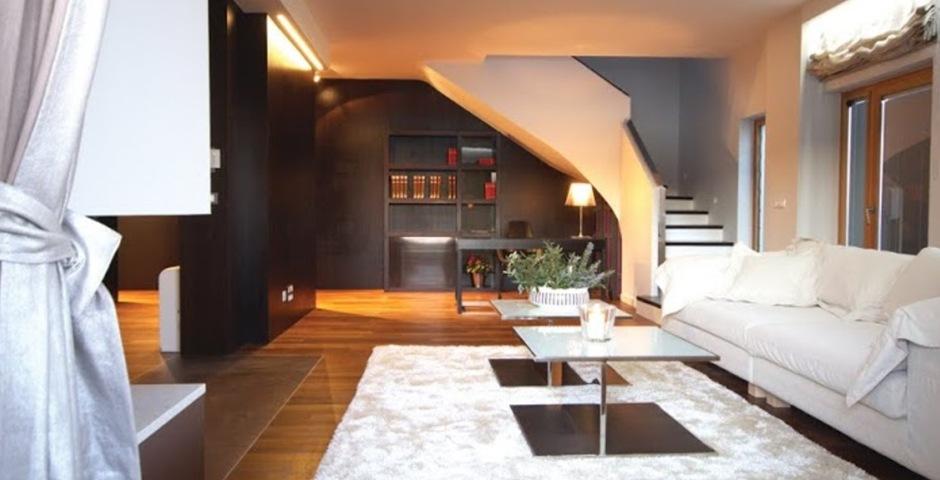 Show luxury villa trogir croatia livingroom area