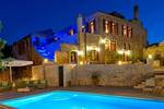 Thumb luxury traditional villa old mill mouranas crete greece by night
