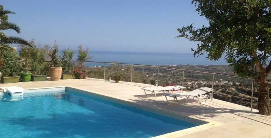 Show luxury traditional villa old mill mouranas crete greece private pool