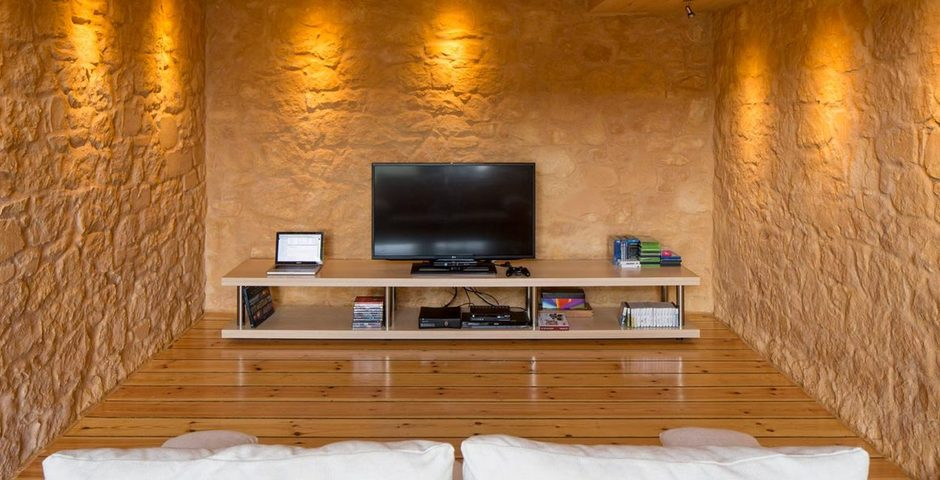 Show luxury stone villa akrotiri crete greece home cinema