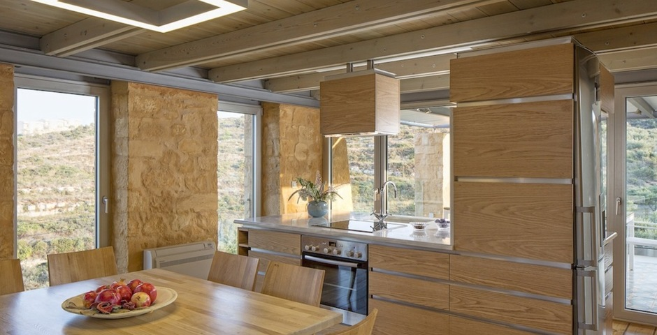 Show luxury stone villa akrotiri crete greece kitchen