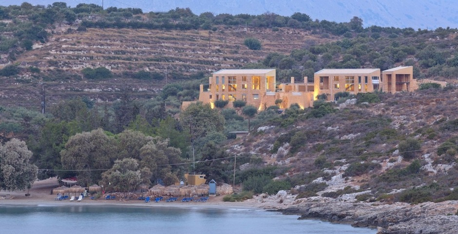Show luxury stone villa akrotiri crete greece sea access