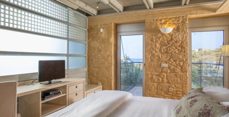 Show villa luxe bord de mer loutraki crete grece piscine privee vuew mer