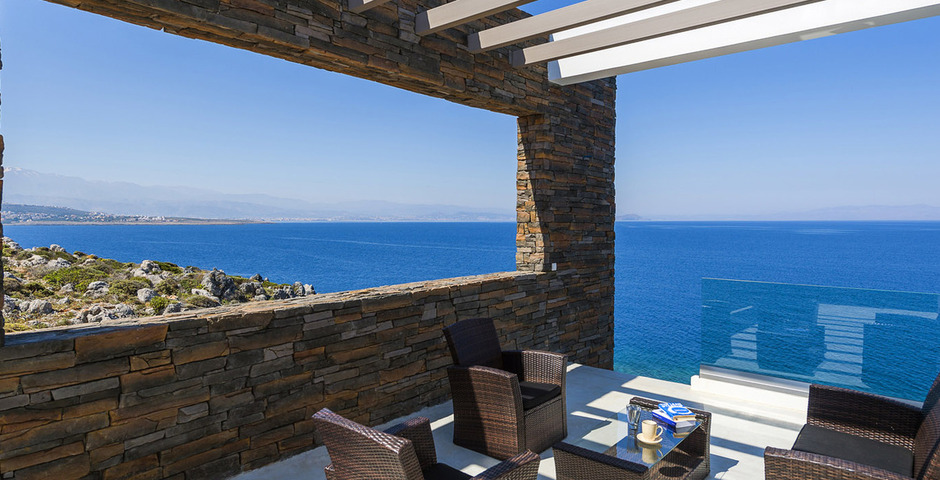 Show luxury villa crete seafront upper terrace 13