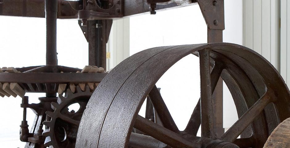 Show luxury villa santorini greece old factory loft style detail milos preserved machines