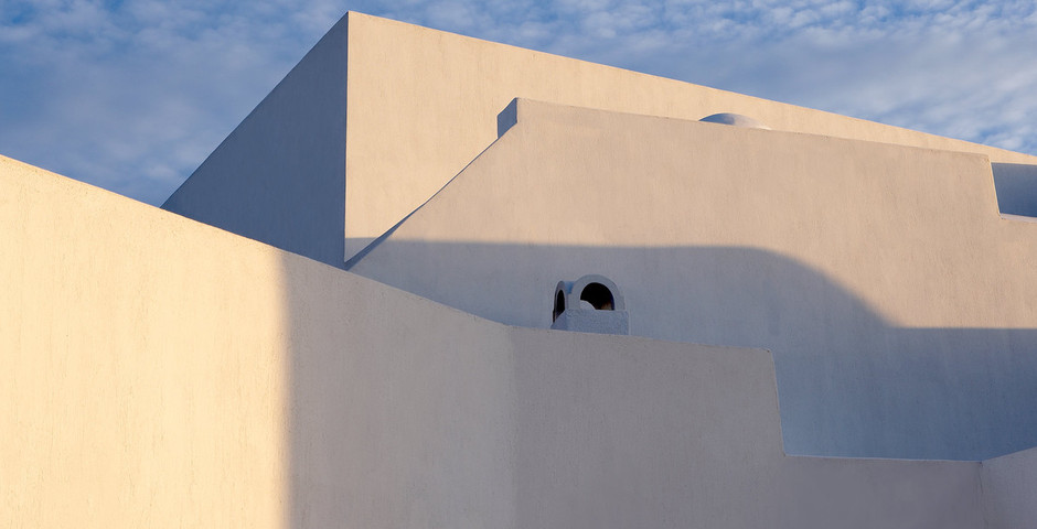 Show luxury villa santorini greece old factory loft style detail architecture