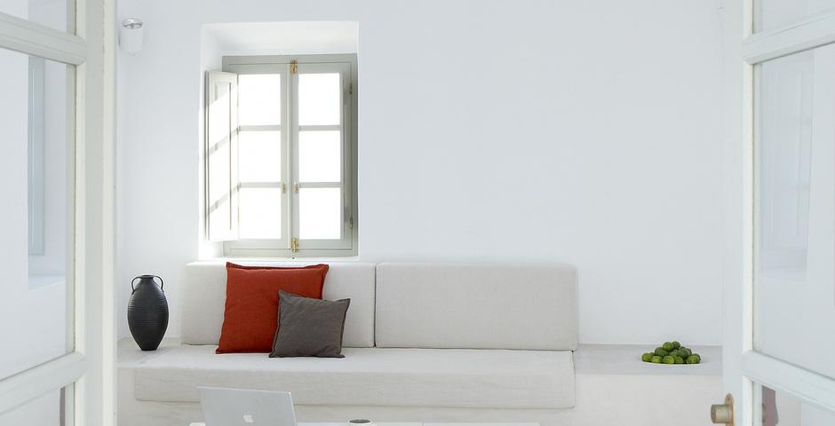 Show luxury villa santorini greece old factory loft style katikia living