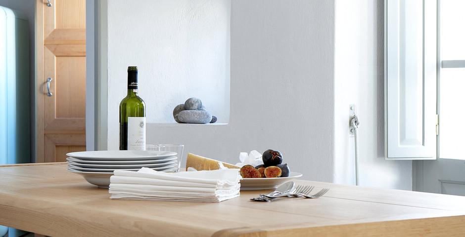 Show luxury villa santorini greece old factory loft style katoy dining