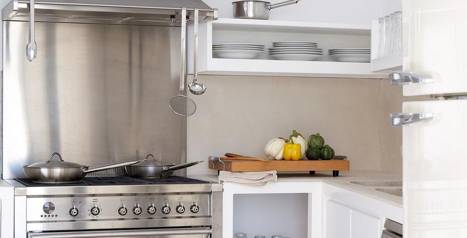 Show luxury villa santorini greece old factory loft style katoy kitchen