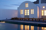 Thumb luxury villa santorini greece old factory loft style leisure pool public dining dusk