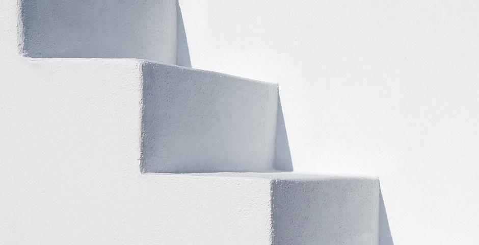 Show luxury villa santorini greece old factory loft style stairs