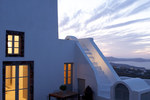 Thumb luxury villa santorini greece old factory loft style upper courtyarg at dusk