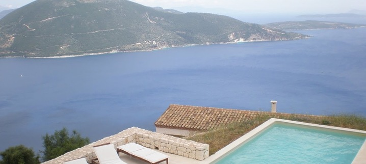 Results seaview villa urania lefkada helios stone villa swimmingpool with view