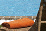 Thumb luxury seafront villa corfu piedra sunbed detail pool towel