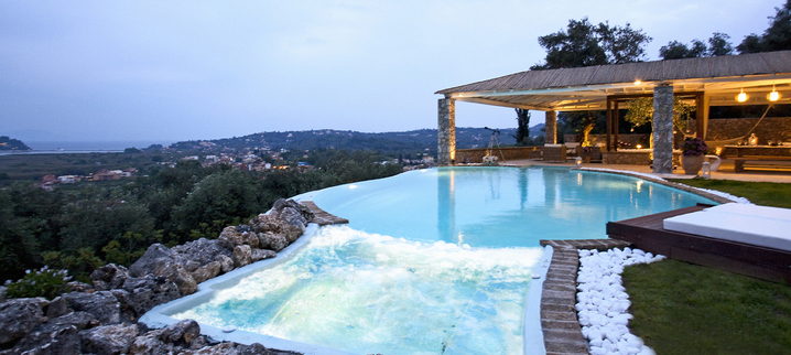 Results luxury seafront villa corfu piedra swimmingpool whirlpool